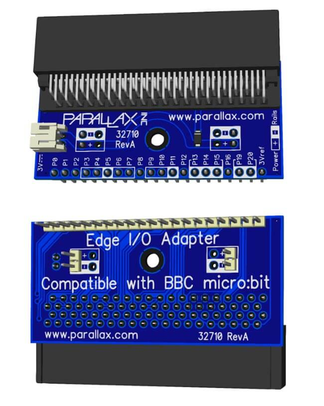 Edge IO Adapter for microbit for Python on Breadboards