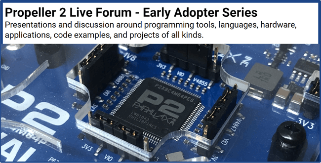 Propeller 2 Live forum - early adapter series