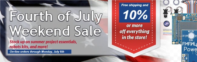 Fourth of July weekend sale