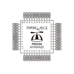 Propeller P8X32A-Q44 pin map
