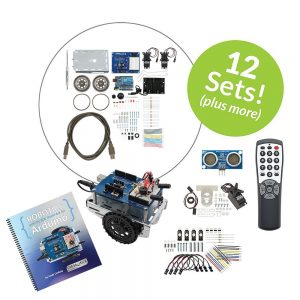 32339 Shield-Bot with Arduino 12-pack Plus Kit for Classrooms