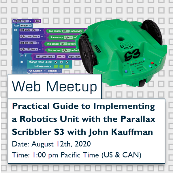 Practical guide to Implementing a robotics unit with the parallax Scribbler S3 with John Kauffman