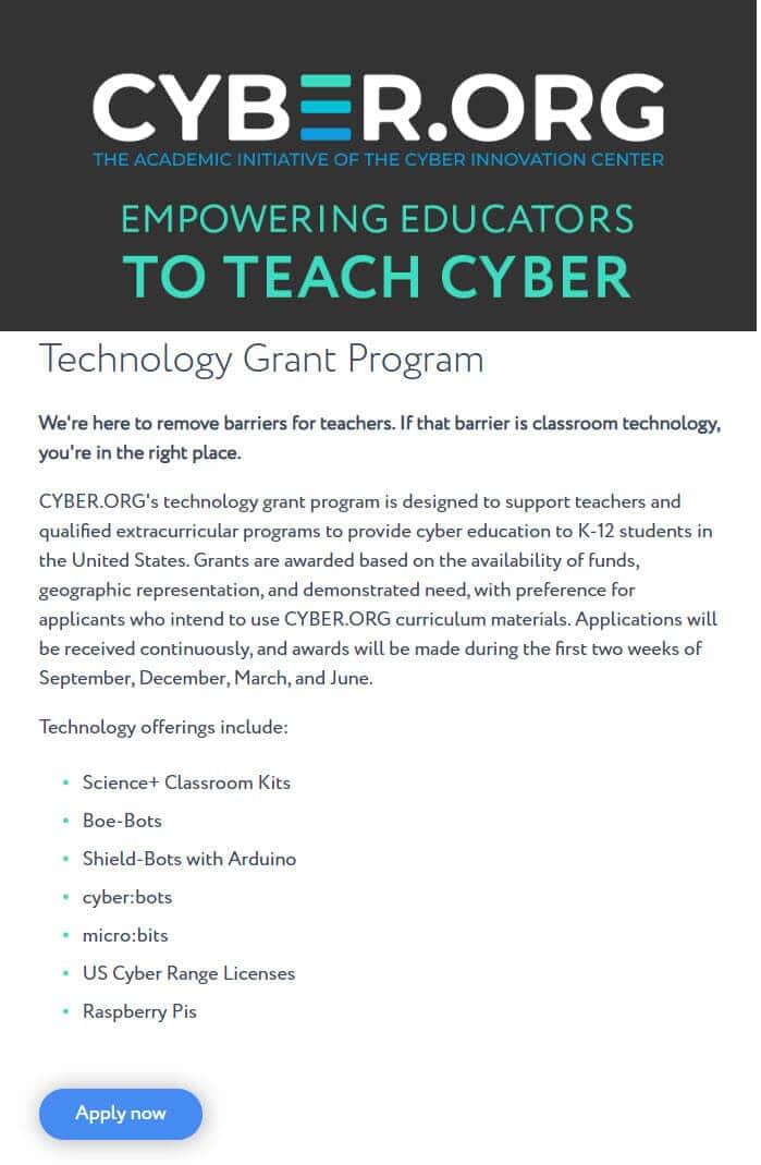 Parallax Hardware for their K-12 Programs