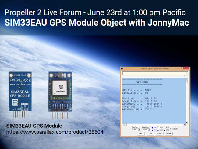 P2 LiP2 Live Forum June 23 2021 SIM33EAU GPS Module Object with JonnyMac