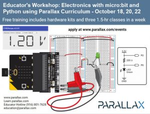 Educator's Workshop: Electronics with micro:bit and Python - October 18 20 22 2021