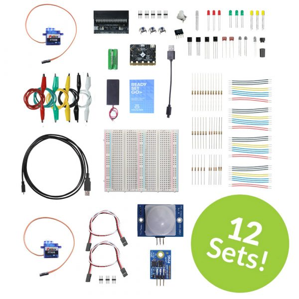 Whats a Microcontroller with Python and microbit 12pack plus kit contents view